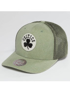 Mitchell & Ness Trucker NBA Washout 110 Flexfit Boston Celtics olive
