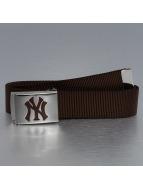 MLB Vyöt MLB NY Yankees Premium Woven ruskea