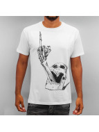 Monkey Business T-Shirt Skull Finger blanc