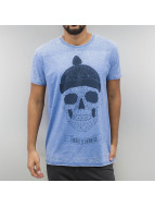 Monkey Business T-Shirt Geometric Skull blau