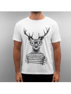 Monkey Business T-Shirt Geer Deer weiß