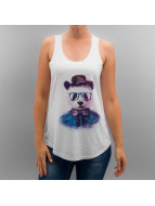 Monkey Business Tank Tops Panda Glasses Hat bialy