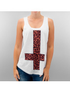 Monkey Business Tank Tops Leopard Cross hvit