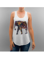 Monkey Business Top Colourful Elephant blanc