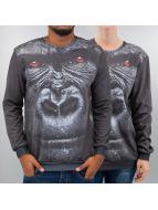 Mr. Gugu & Miss Go Pullover Gorilla schwarz