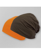 MSTRDS Jersey Reversible Beanie Chocolate/Orange