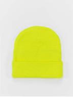 MSTRDS Beanie Basic Flap geel