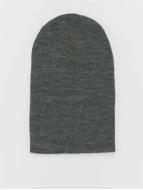 MSTRDS Beanie Basic Flap Long grey