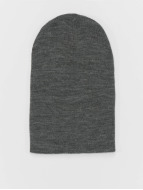 MSTRDS Beanie Basic Flap Long grigio