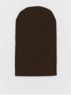 MSTRDS Beanie Basic Flap Long marrón