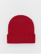 MSTRDS Beanie Basic Flap rojo