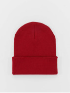 MSTRDS Beanie Basic Flap Long rood