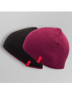 MSTRDS Beanie Reversible Knit rood