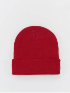 MSTRDS Beanie Basic Flap rosso