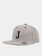 MSTRDS Casquette Snapback & Strapback J Letter gris