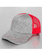MSTRDS Casquette Trucker mesh Printed Jersey gris