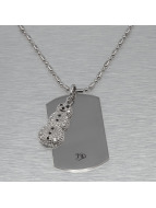 MSTRDS Necklace Snow Man silver colored