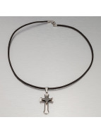 MSTRDS Necklace Cross silver colored