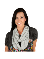 MSTRDS Scarve / Shawl Wrinkle Loop gray
