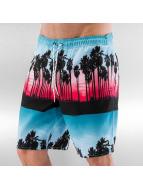 NEFF Kúpacie šortky Palm Stripes Hot Tub pestrá