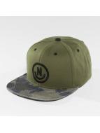 NEFF Snapback Caps Daily Smile Pattern oliwkowy