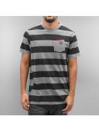 NEFF T-shirt Christoph Washed Stripe grå