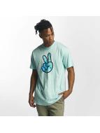 NEFF T-Shirt Peeace turquoise