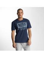 NEFF T-Shirts New World Push mavi