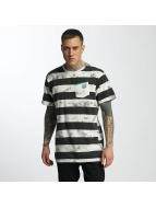 NEFF T-Shirty Christoph Washed Strip bialy