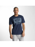 NEFF T-Shirty New World Push niebieski