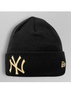 New Era Beanie Metallic Cuff NY Yankees zwart