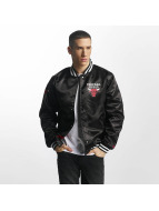 New Era Bomberjacke Chicago Bulls schwarz