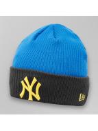 New Era Bonnet Contrast Rib NY Yankees bleu