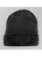 New Era Bonnet NBA Black On Black LA Lakers Knit noir