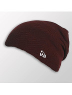 New Era Bonnet Seasonal Long Knit rouge