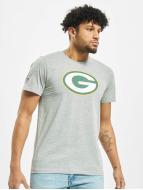New Era Team Logo Green Bay Packers T-Shirt Heather Grey