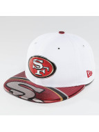 New Era Casquette Fitted NFL Offical On Stage San Francisco 49ers blanc