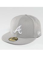 New Era Casquette Fitted Diamond Era Essential Atlanta Braves 59Fifty gris