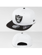 New Era Casquette Snapback & Strapback Contrast Crown Oakland Raiders 9Fifty blanc