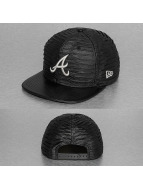 New Era Casquette Snapback & Strapback Leather Wave Atlanta Braves gris