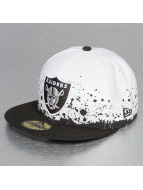 New Era Fitted Panel Splatter Oakland Raiders 59Fifty blanc