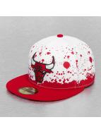 New Era Fitted Panel Splatter Chicago Bulls blanc