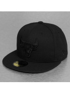 New Era Fitted Cap NBA Black On Black Chicago Bulls 59Fifty èierna