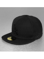 New Era Fitted Cap Black On Black LA Dodgers èierna