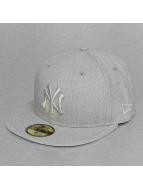 New Era Fitted Cap Tonal Heather NY Yankees 59Fifty šedá