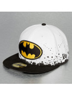 New Era Fitted Cap Panel Splatter Batman 59Fifty bialy