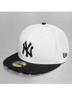 New Era Fitted Cap White Liberty NY Yankees bialy