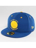 New Era Fitted Cap NBA Rubber Logo Golden State Warriors blå