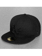 New Era Fitted Cap Black On Black Oakland Athletics black