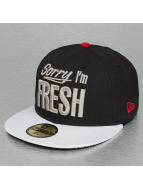 New Era Fitted Cap Sorry Im Fresh black